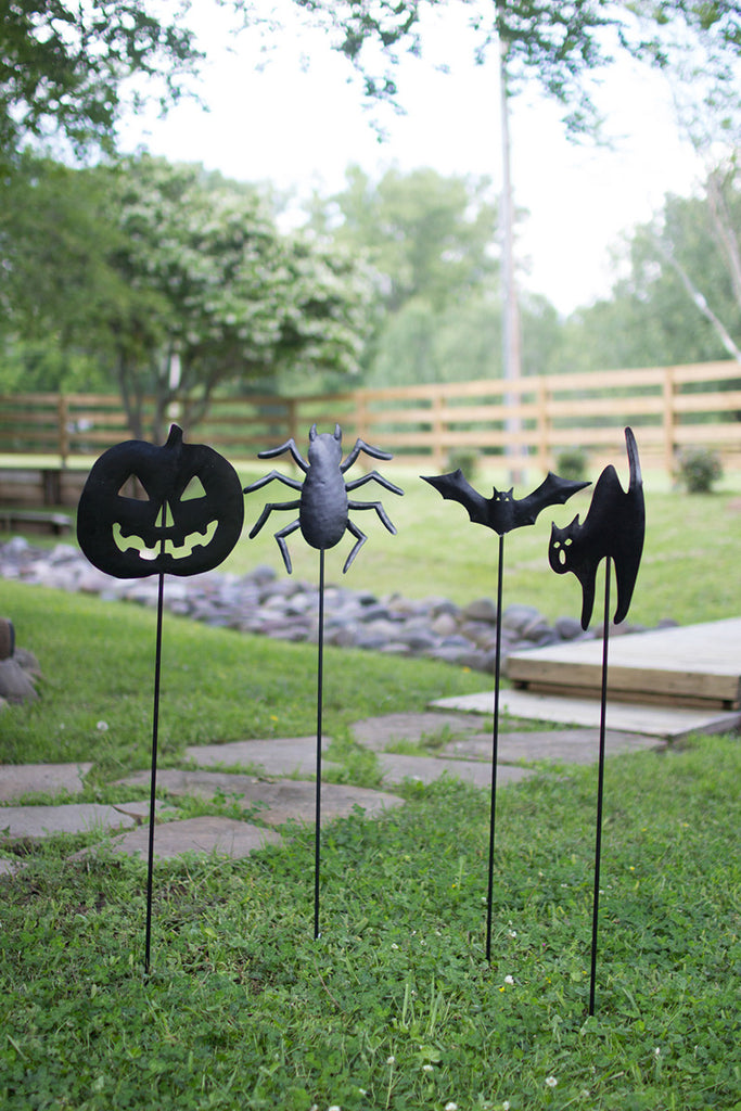 Halloween Yard Stakes - Set of 4