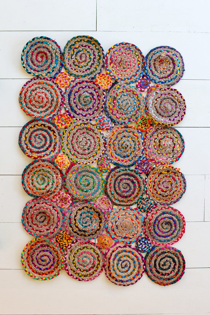 Multi Color Chindi Braided Rug - 60 x 40