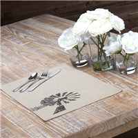 Sawyer Mill Charcoal Windmill Placemats - Set of 6