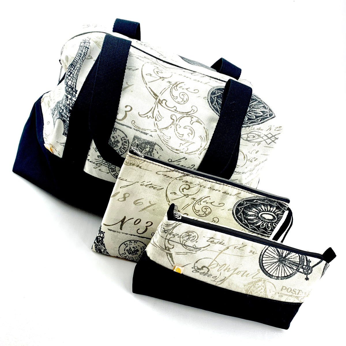 New limited edition. Sets created for light travels. Tote bag with zipper, toiletry bag and a pouch for $49. Shop Now.