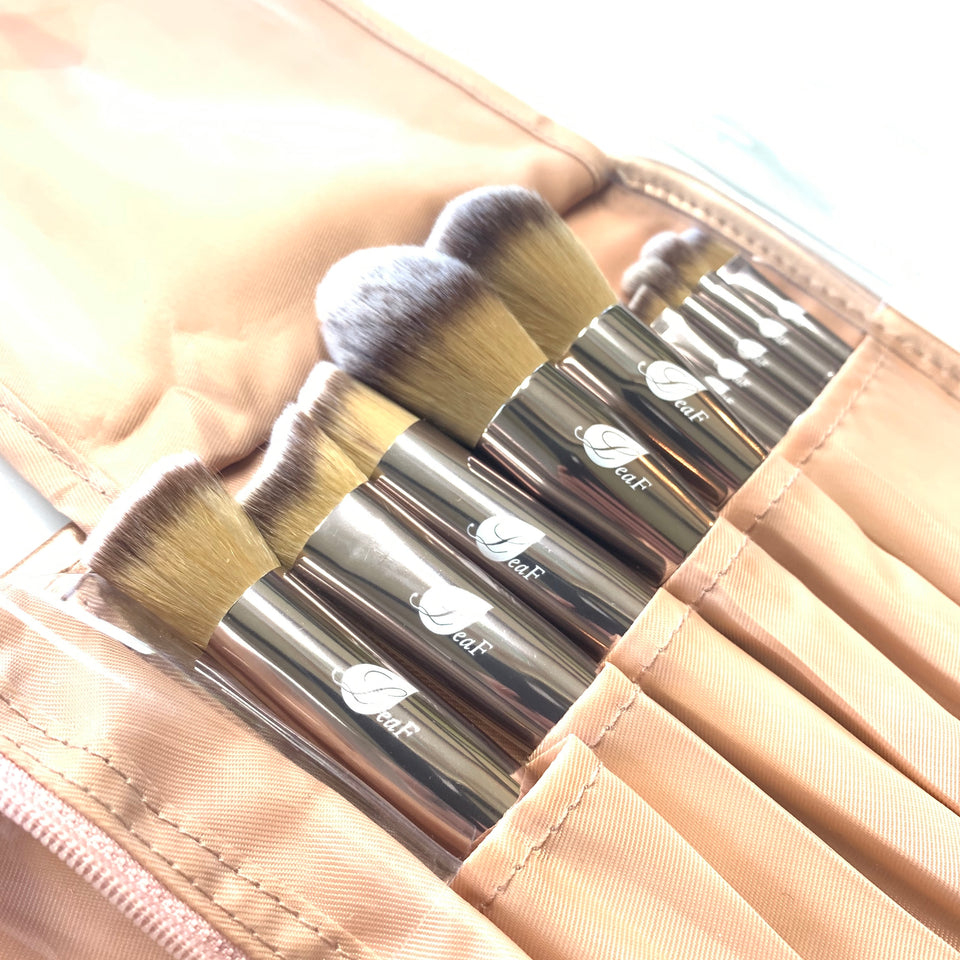 LeaF Makeup brushes. Fits perfectly in our makeup bag.