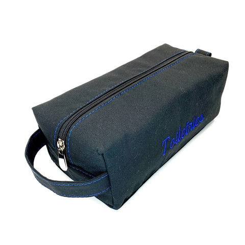 Washable toiletry zip top bag