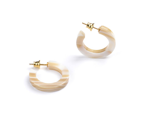 Round n' Round Hoop Earrings - Ivory