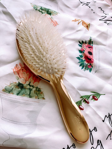 Gold Paddle Hair Brush Regular Size