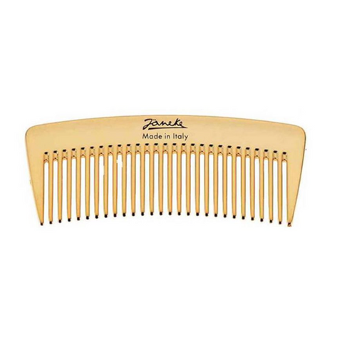 Sparse golden hair comb