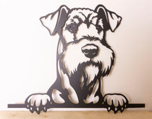 Load image into Gallery viewer, Airedale Peeping Dog Wall Art / Garden Art - Unique Metalcraft