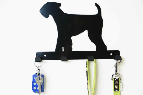 Airedale terrier  - Dog Lead / Key Holder, Hanger, Hook - Unique Metalcraft