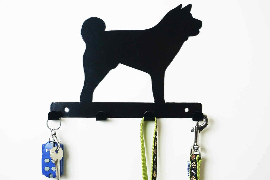 Akita - Dog lead / Key holder Front View