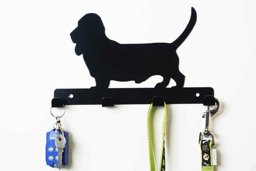 Bassett Hound - Dog lead / Key holder Front View
