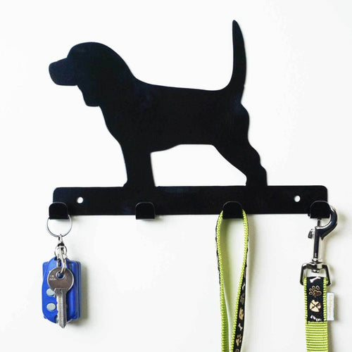 Beagle - Dog Lead / Key Holder, Hanger, Hook - Unique Metalcraft