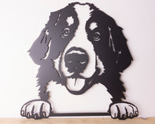 Load image into Gallery viewer, Bernese Mountain Dog Peeping Dog Wall Art / Garden Art - Unique Metalcraft