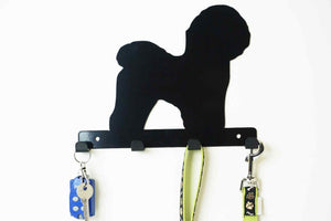 Bichon Frise - Dog lead / Key holder - Front View
