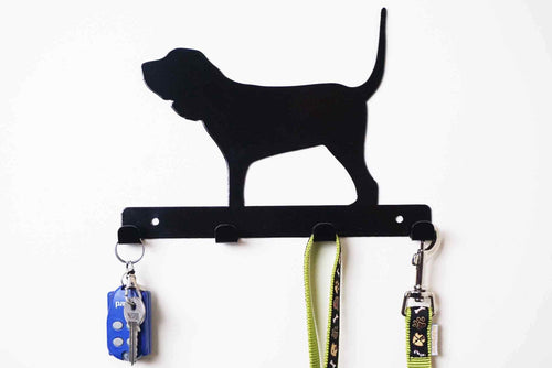 Bloodhound - Dog lead / Key holder - Front View