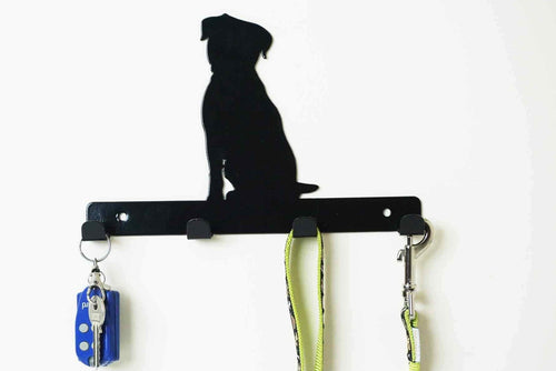 Border Terrier - Dog Lead / Key Holder, Hanger, Hook - Unique Metalcraft