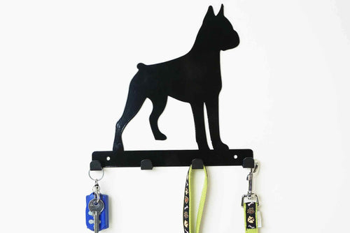 Boxer  - Dog Lead / Key Holder, Hanger, Hook - Unique Metalcraft