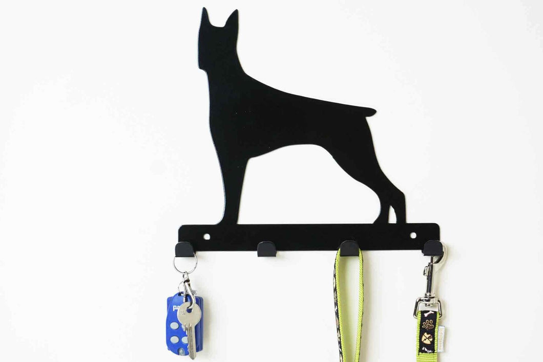 Doberman - Dog Lead / Key Holder, Hanger, Hook