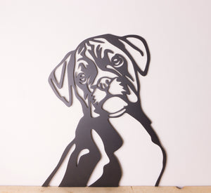 Boxer Dog Wall Art / Garden Art - Unique Metalcraft