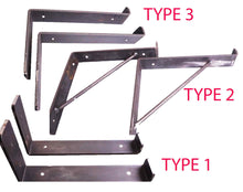 Load image into Gallery viewer, Rustic Shelf Brackets Scaffold Board Heavy Duty 225mm Industrial Steel Metal