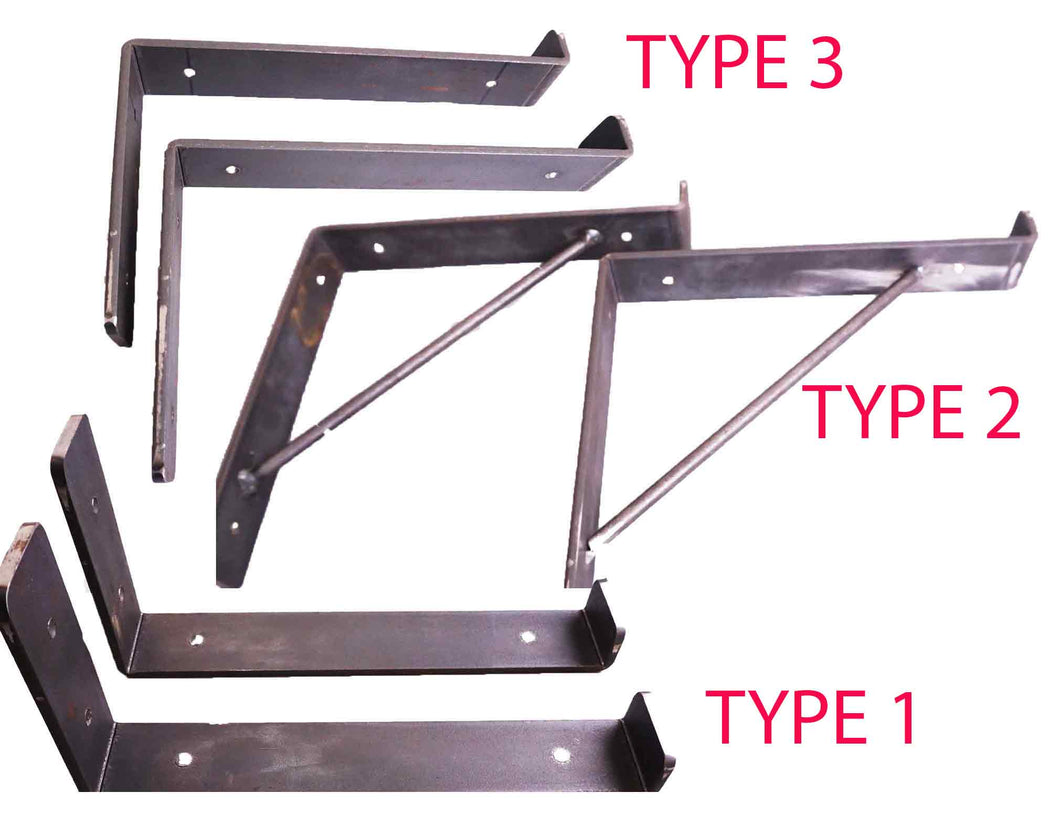 Rustic Shelf Brackets Scaffold Board Heavy Duty 225mm Industrial Steel Metal - Unique Metalcraft