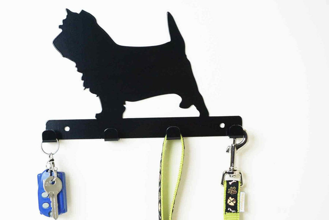 Cairn Terrier - Dog lead / Key holder - Front View