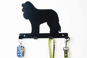 Cockerpoo - Dog lead / Key holder - Front View