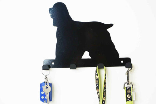 Cocker Spaniel - Dog lead / Key holder - Front View