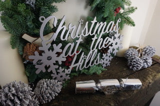Christmas at the surname sign Home wall art Metal - Front View