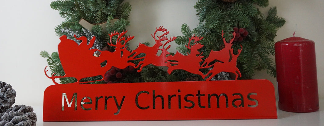 Merry Christmas sign - Unique Metalcraft