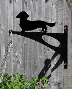 Dachshund Long Haired Hanging Basket Bracket