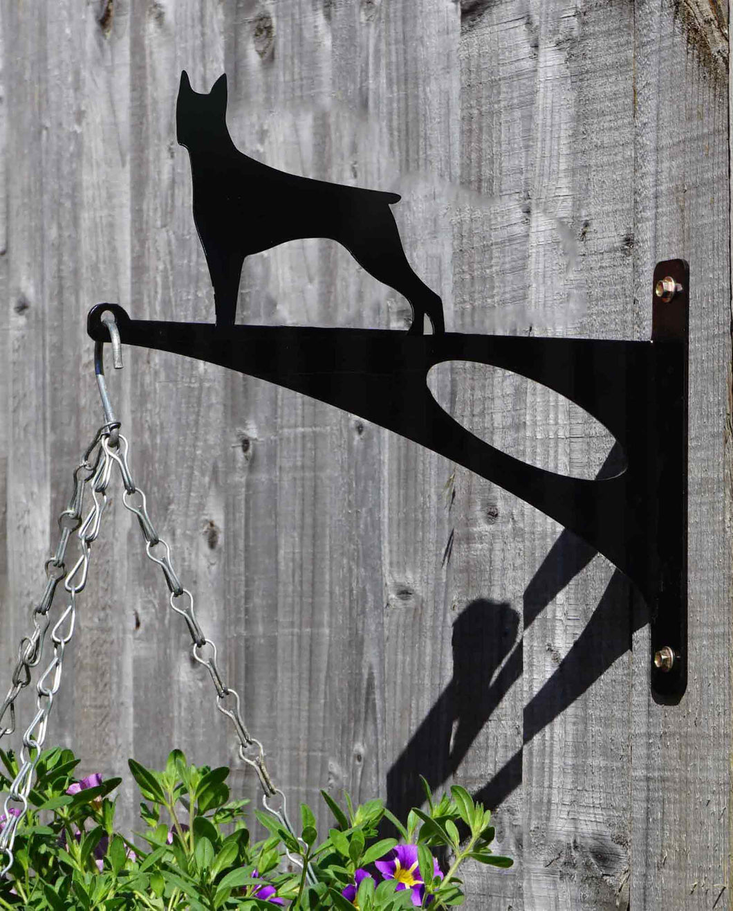 Doberman Hanging Basket Bracket - Unique Metalcraft