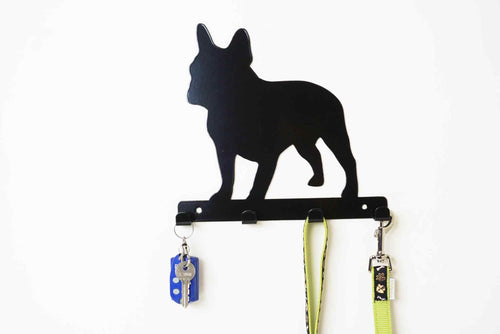 French Bulldog - Dog Lead / Key Holder, Hanger, Hook