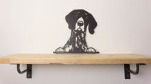 Load image into Gallery viewer, German Short Haired Pointer Peeping Dog Wall Art / Garden Art - Unique Metalcraft