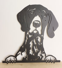 Load image into Gallery viewer, German Short Haired Pointer Peeping Dog Wall Art / Garden Art