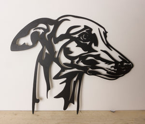 Greyhound Dog Wall Art / Garden Art - Unique Metalcraft
