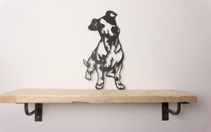 Jack Russell Dog Wall Art / Garden Art - Unique Metalcraft