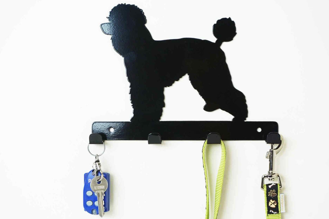 Poodle  - Dog Lead / Key Holder, Hanger, Hook - Unique Metalcraft