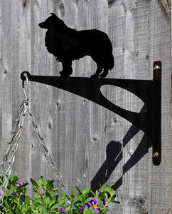 Rough Collie Hanging Basket Bracket
