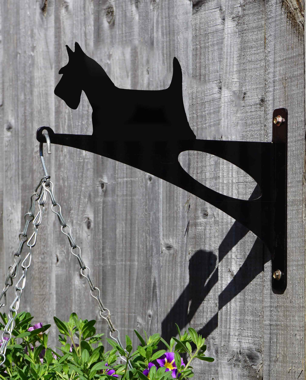 Scottish Terrier Hanging Basket Bracket - Unique Metalcraft