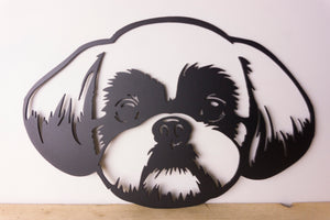 Shih Tzu Dog Wall Art / Garden Art - Unique Metalcraft