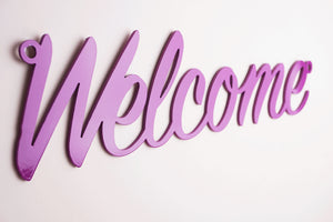 'Welcome' sign Home wall art