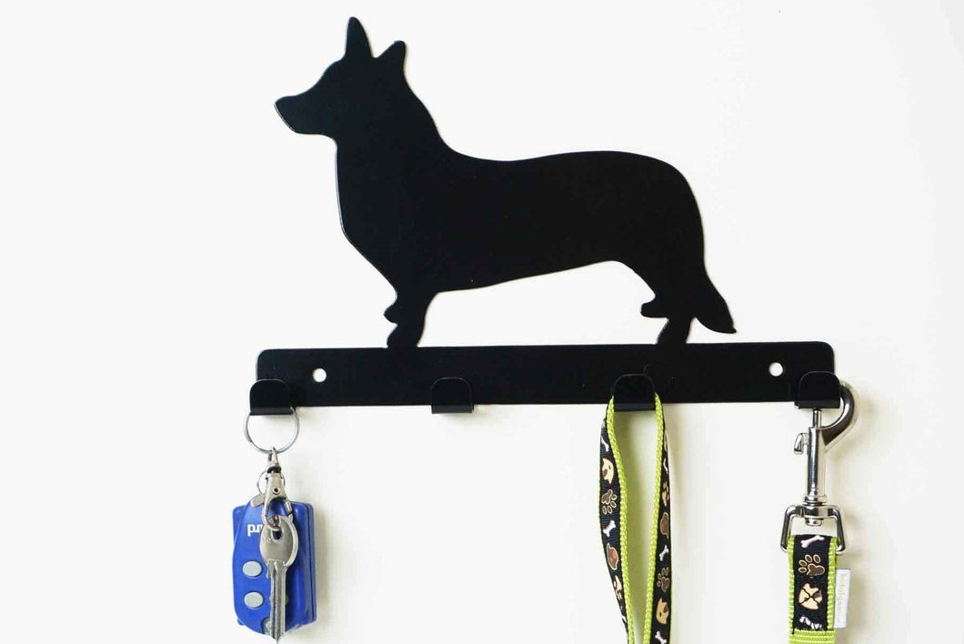 Welsh Corgi  - Dog Lead / Key Holder, Hanger, Hook