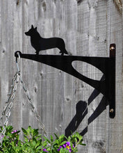 Load image into Gallery viewer, Welsh Corgi Hanging Basket Bracket