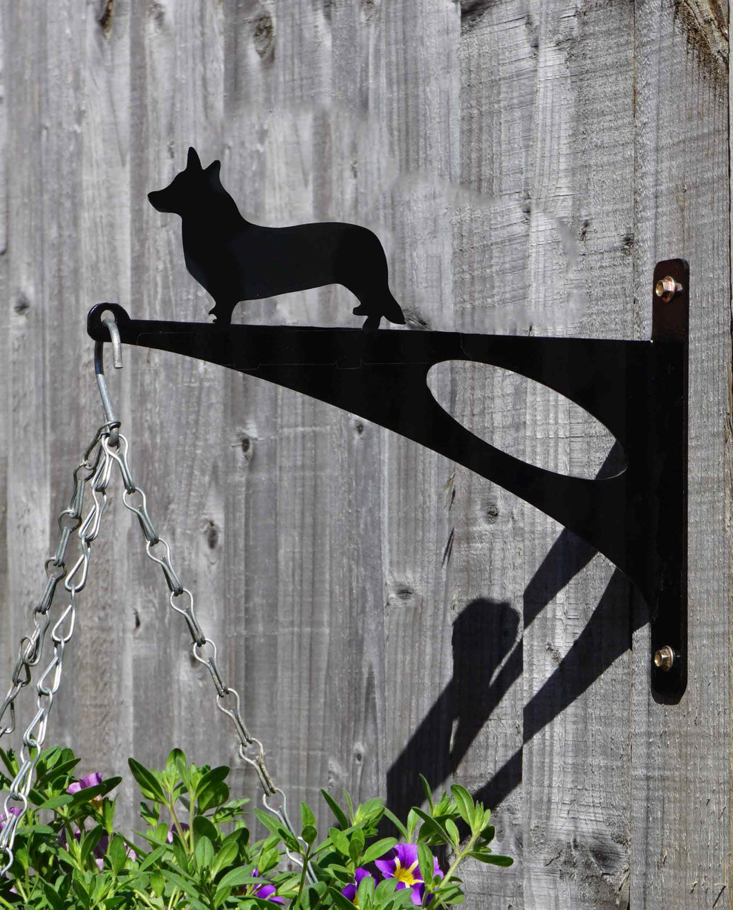 Welsh Corgi Hanging Basket Bracket