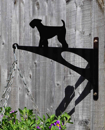 Airedale Terrier Hanging Basket Bracket
