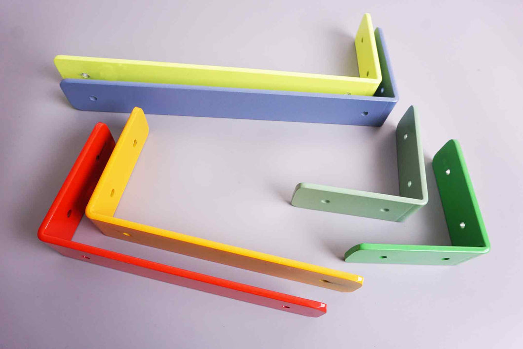 Bright Shelf Brackets - Heavy Duty - Choose a colour to suit your home