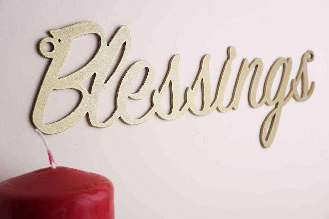 'Blessings' sign Home wall art