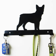 Load image into Gallery viewer, Boston Terrier - Dog Lead / Key Holder, Hanger, Hook - Unique Metalcraft