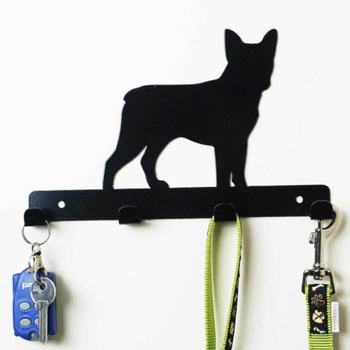 Boston Terrier - Dog Lead / Key Holder, Hanger, Hook - Unique Metalcraft