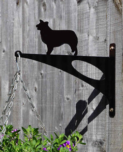 Border Collie Hanging Basket Bracket
