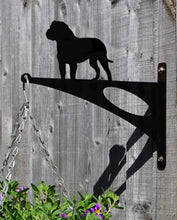 Load image into Gallery viewer, Bull Mastiff Hanging Basket Bracket